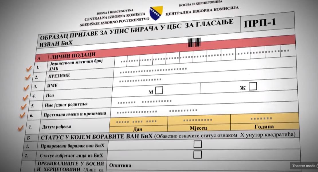 Do 1. septembra registracija birača iz inostranstva za lokalne izbore