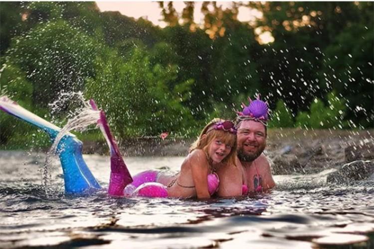 Ljubav tate i ćerke nema granice: Zbog nje je postao i sirena