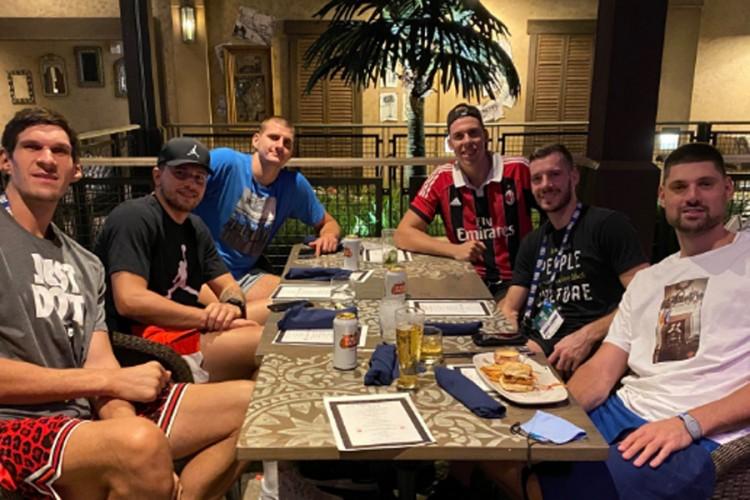 NBA Balkanci se opuštali uz pivo