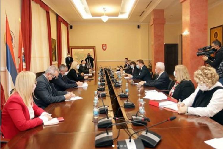 Cvijanović sa delegacijom Hrvatske: Jačati privrednu saradnju