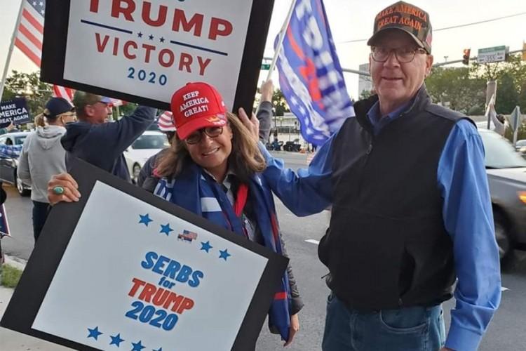 Srbi za Trampa organizovali skup podrške američkom predsjedniku