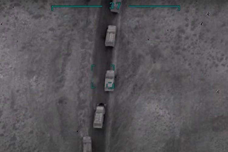 Uništen vojni konvoj jermenskih snaga, objavljen snimak