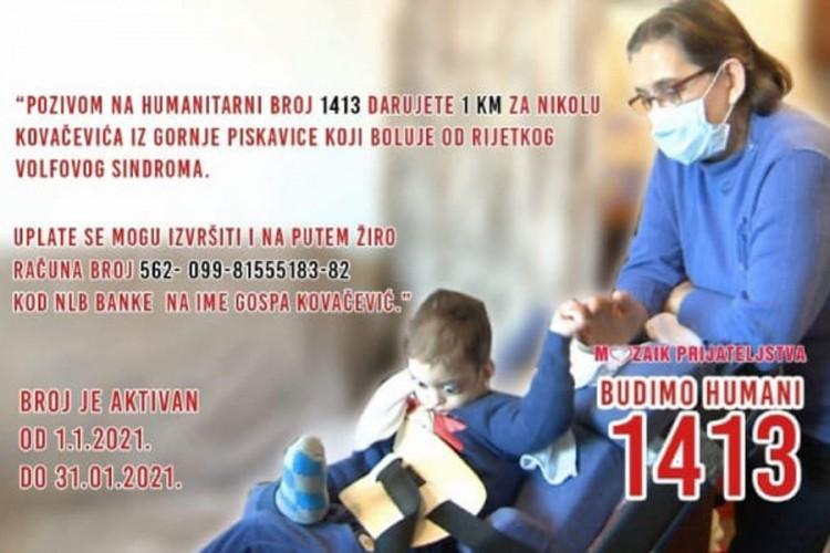 Humanitarni broj 1413 za pomoć porodici Kovačević