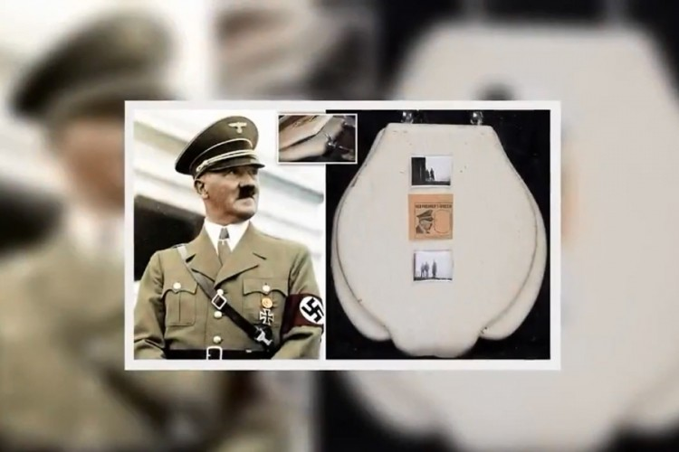 Na prodaju daska WC šolje Adolfa Hitlera