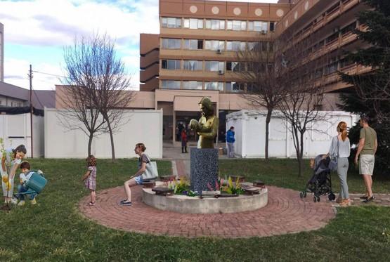 Majka Hrabrost dobija bistu ispred banjalučkog porodilišta