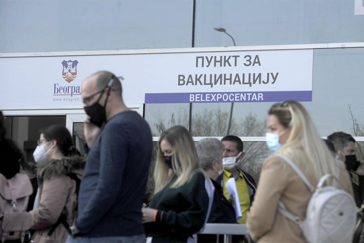 Vakcinisan svaki treći Beograđanin